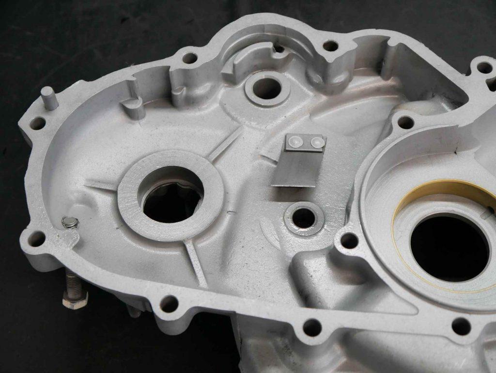 Kleines Motorgehäuse Vespa Motor nach dem strahlen