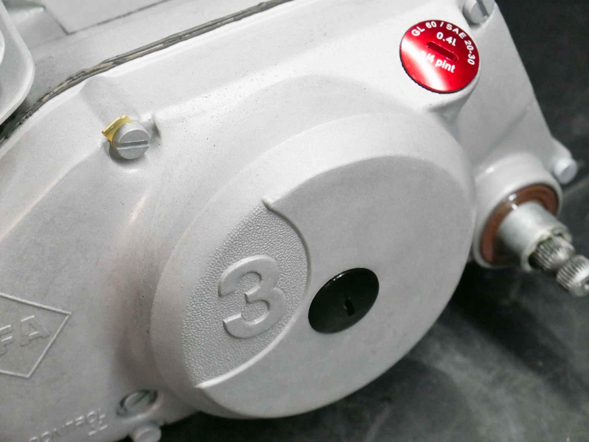Kupplungsdeckel gestrahlt glasperlen Simson Motor