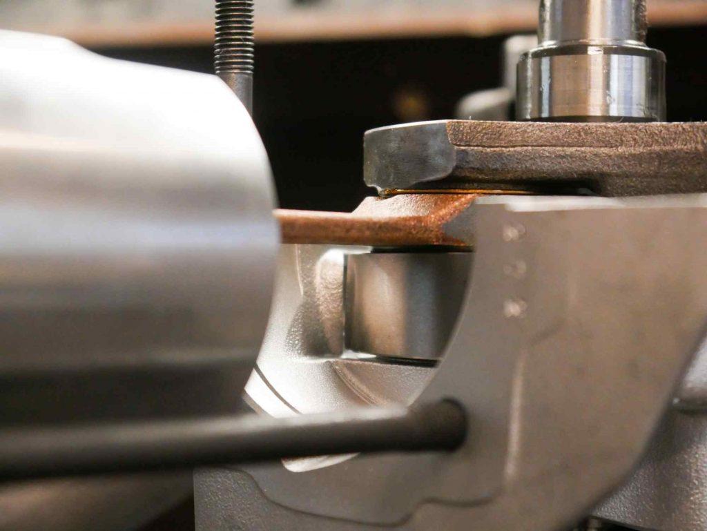 Kurbelwelle am Drehschieber dichten Vespa Motor