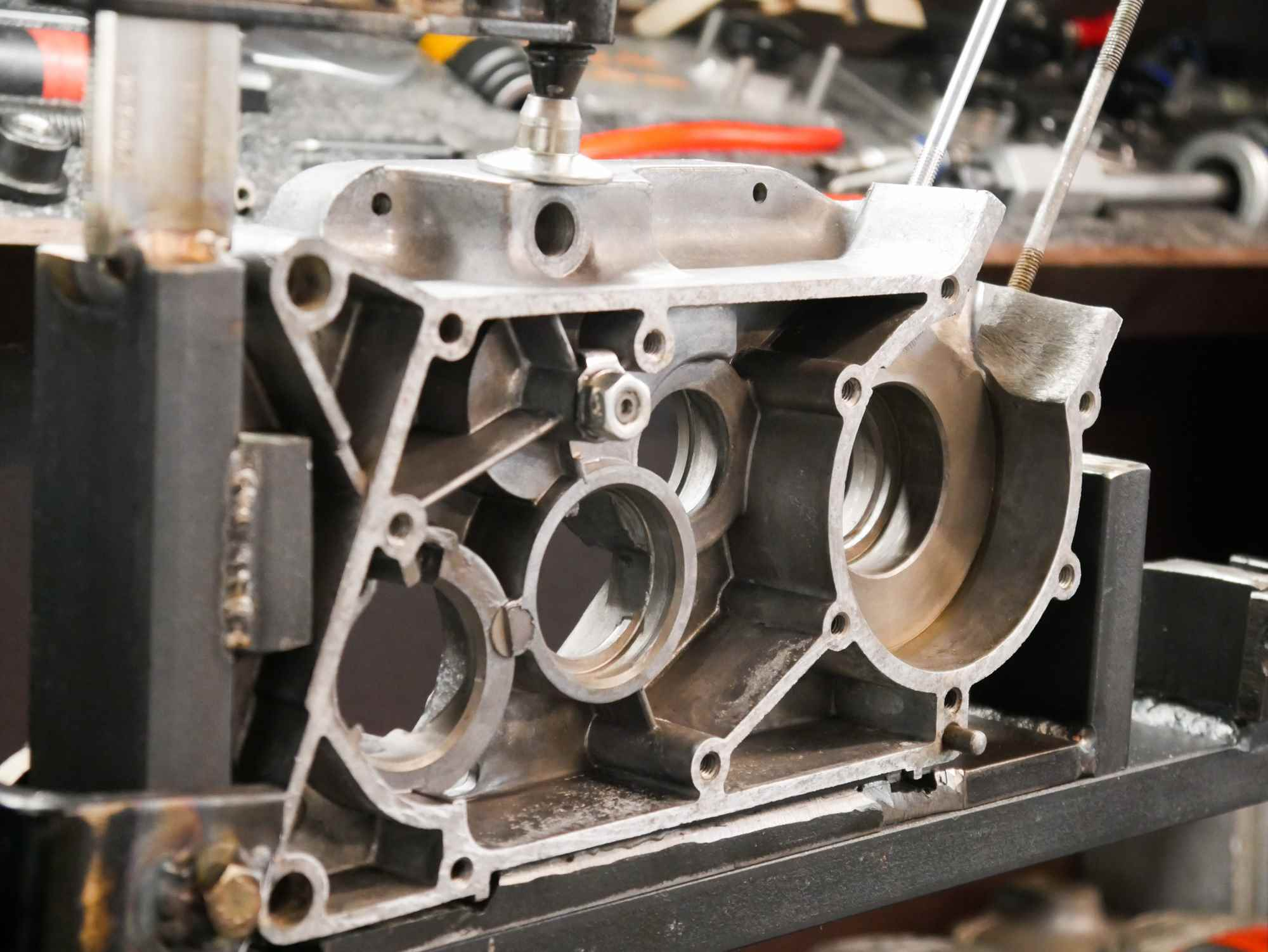 Motorgehäuse vor der Simson Motor Regenerierung