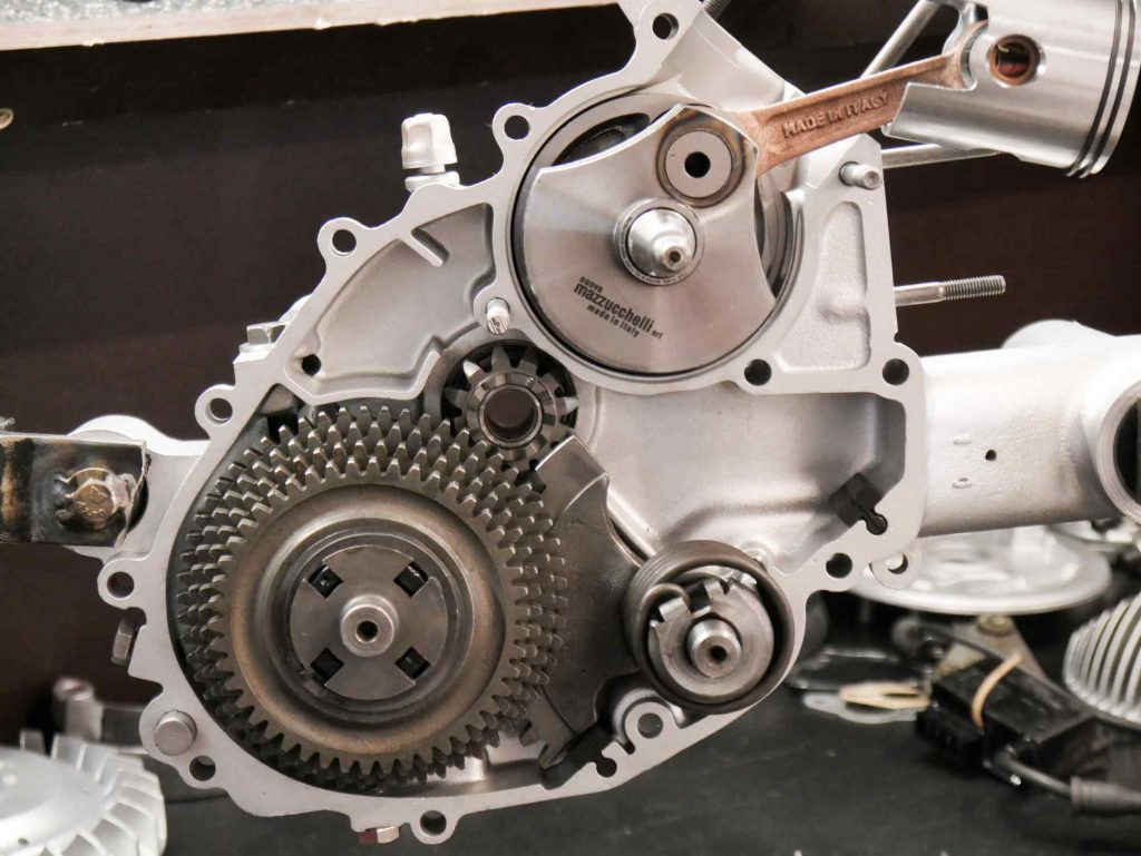 Motorrevision Getriebe Vespa mit 130 ccm Polini Zylinder