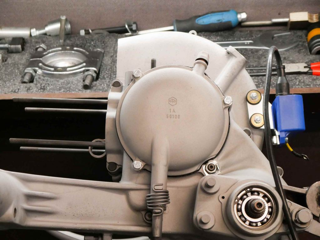 Perfekter Vespa 125 TS Motorblock