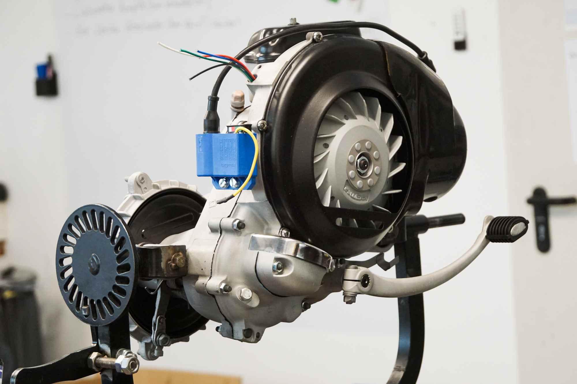 Perfekter Vespa Largeframe Motor nach Revision