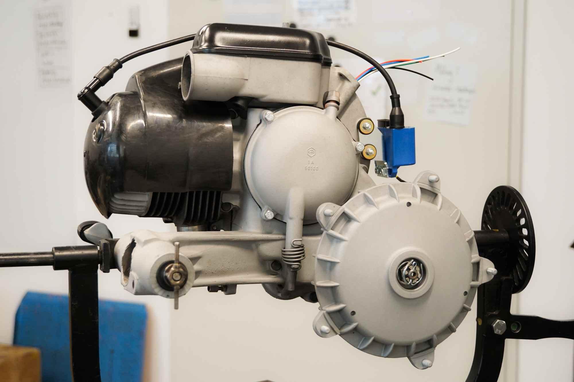Perfekter Vespa Largeframe Motor nach Überholung