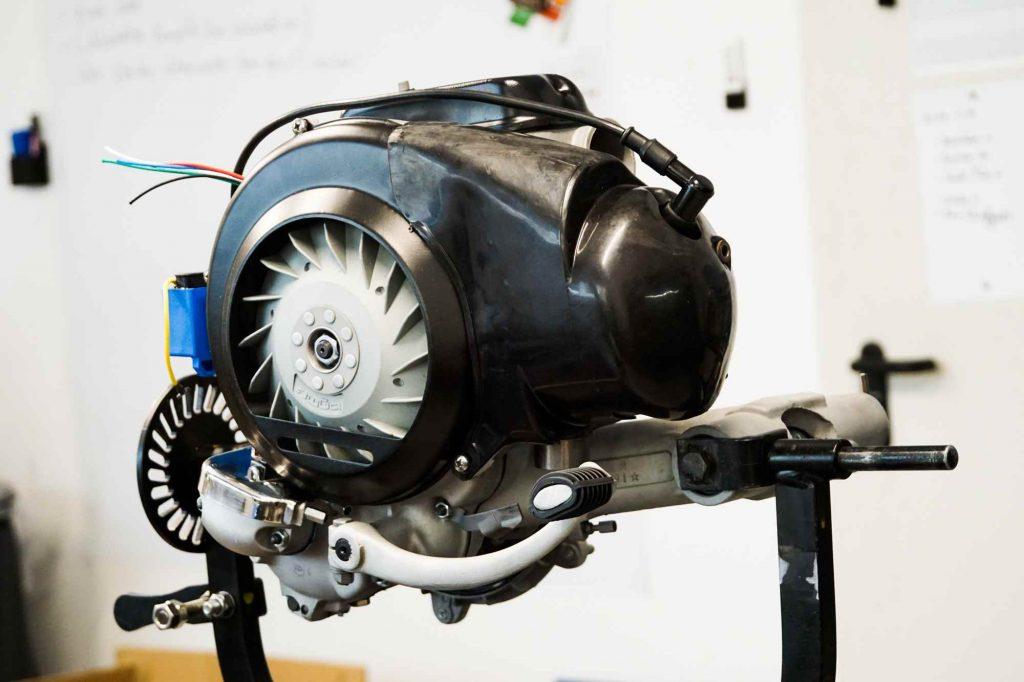 Perfekter Vespa Motor nach Restauration