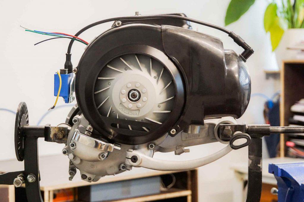 Perfekter Vespa TS 125 Motor nach Revision