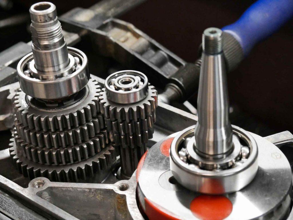 Simson Motor mit Getriebe und Kurbelwelle