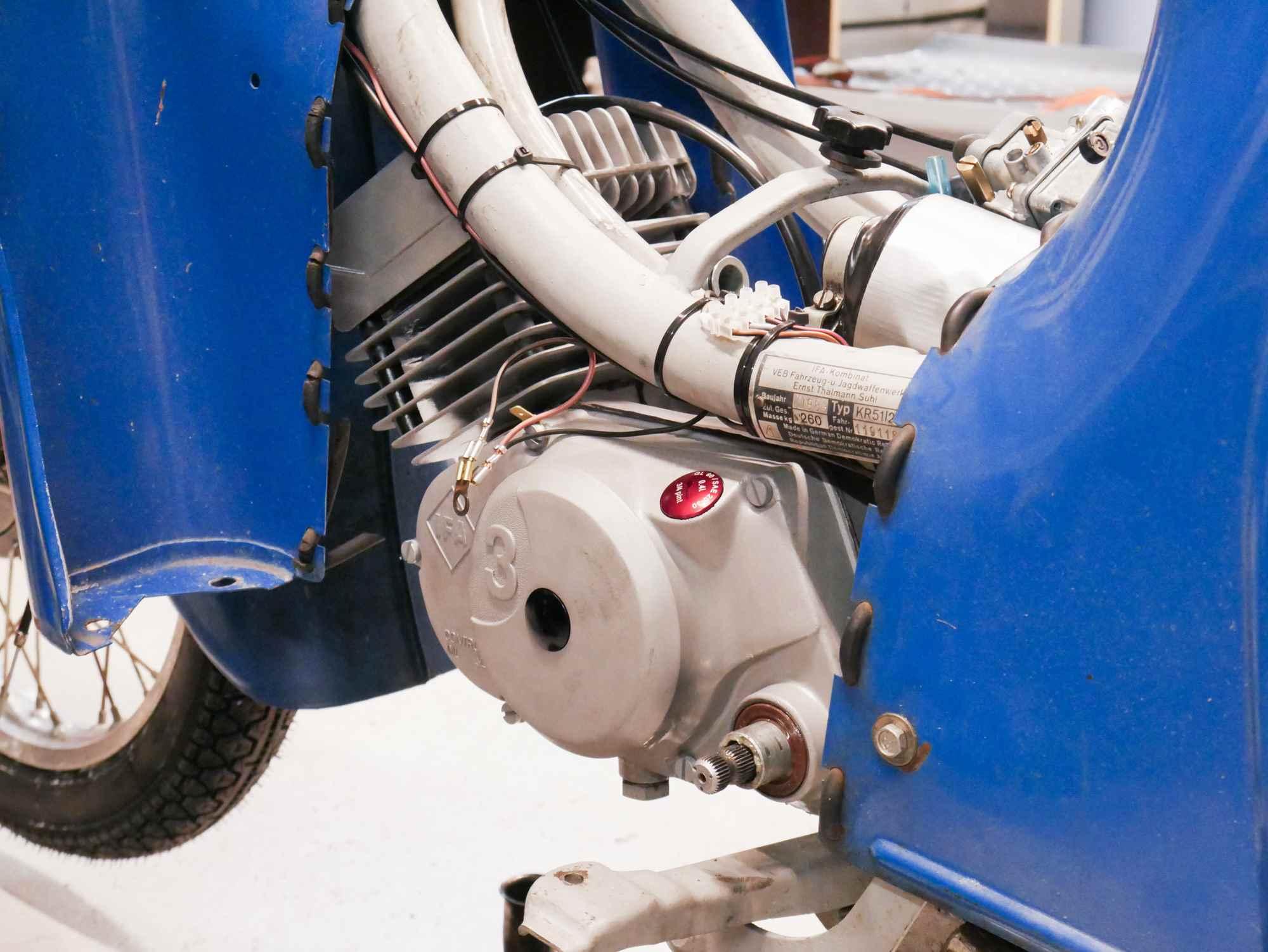 Simson Motor nach Regenerierung eingebaut