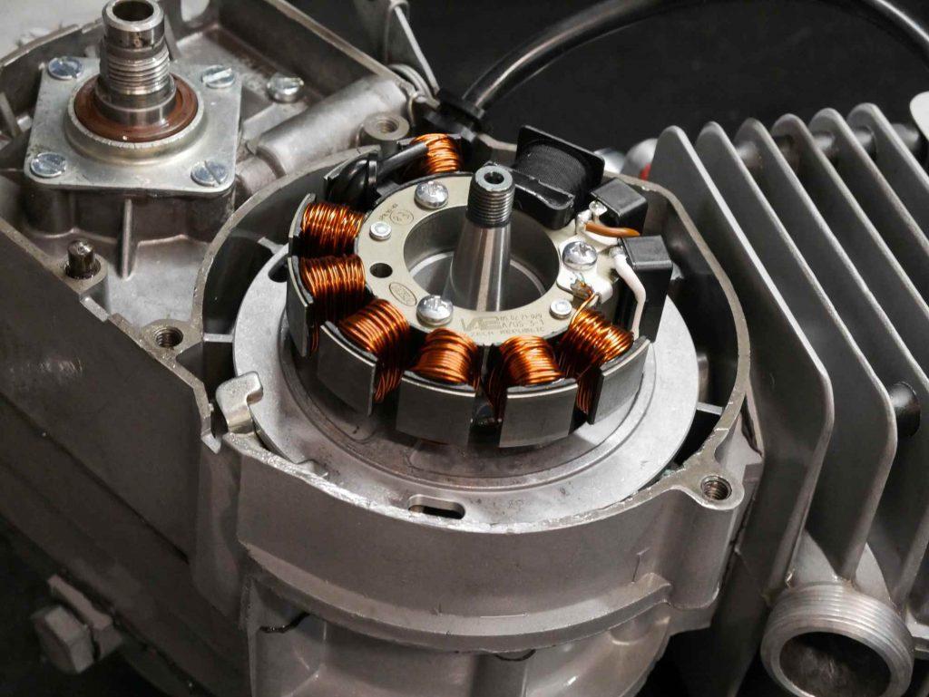 Vape Zündgrundplatte an Simson Motor