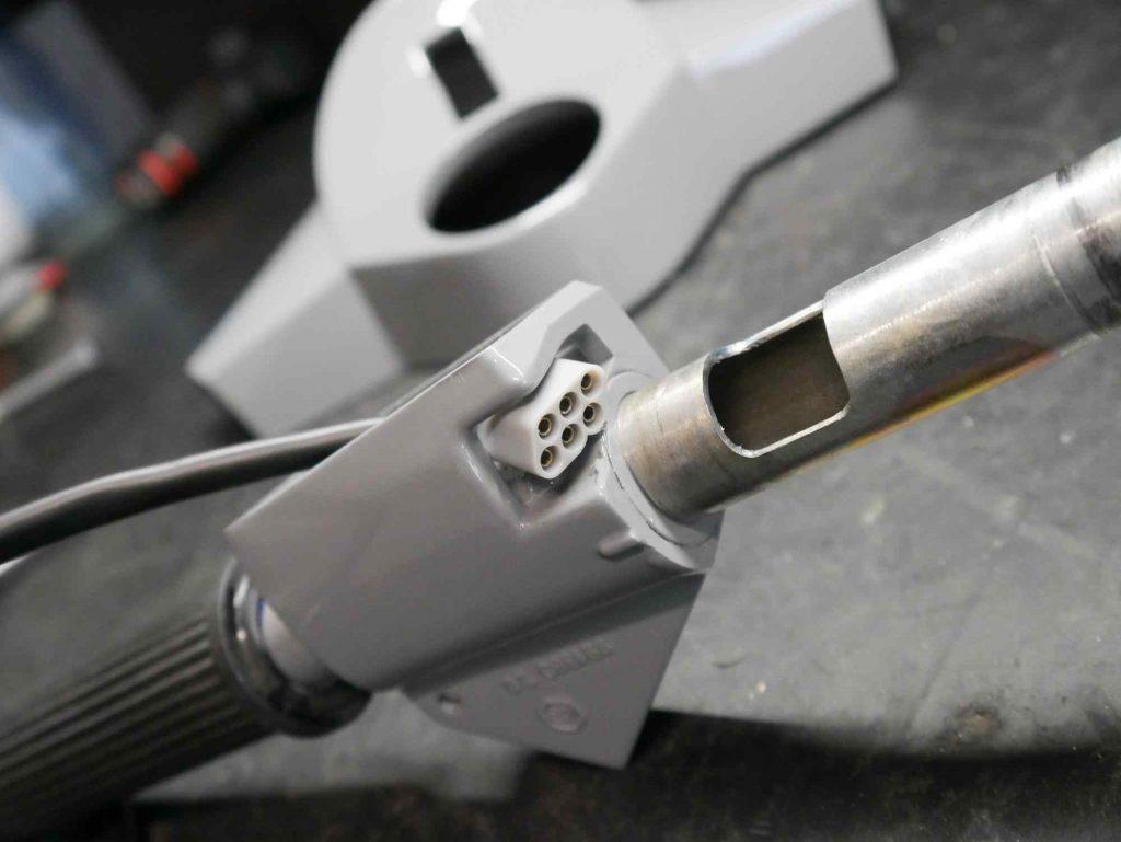 Vespa PK 50 Blinkerschalter in Griff einbauen