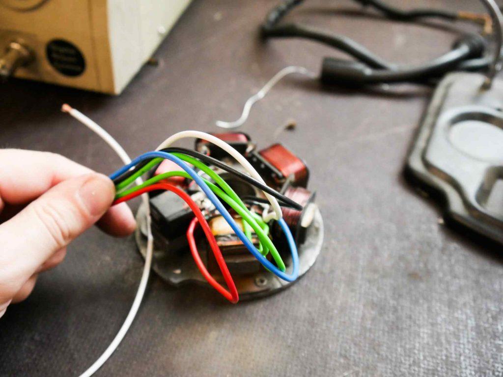 Zündgrundplatte neue Kabel Vespa PK 50