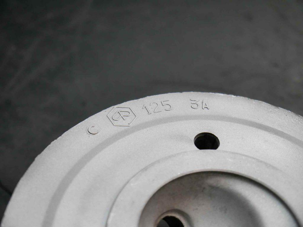 Zylinderkopf Vespa 125 TS nach dem Strahlen
