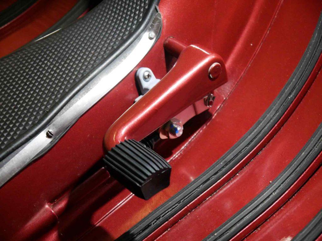 Fußbremshebel montiert an Vespa 160 GS