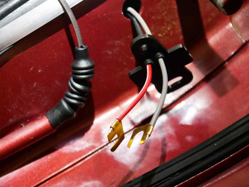 Kabel Bremslichtkontakt anbringen Vespa 160 GS
