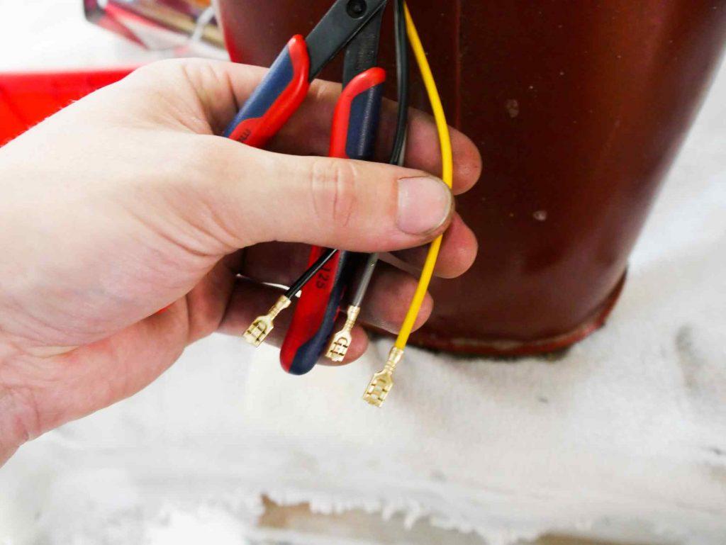 Kabel Rücklicht anpassen Vespa 160 GS