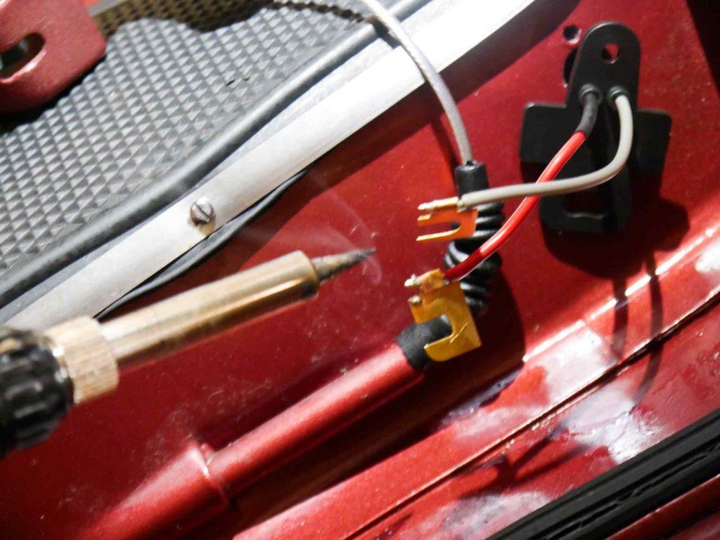 Löten Kabel Bremslichtschalter Vespa 160 GS