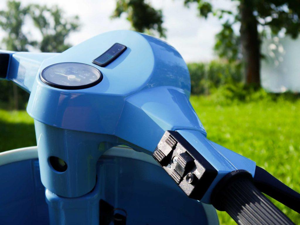 Lenker Lichtschalter Vespa PK 50 restauriert pastellblau