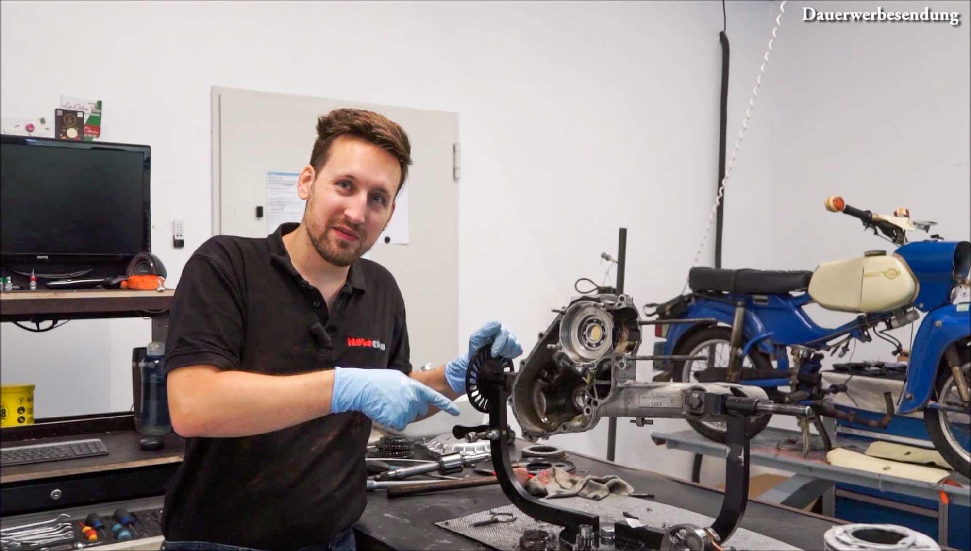 Motor komplett demontiert PX 200 Motor Motorschaden