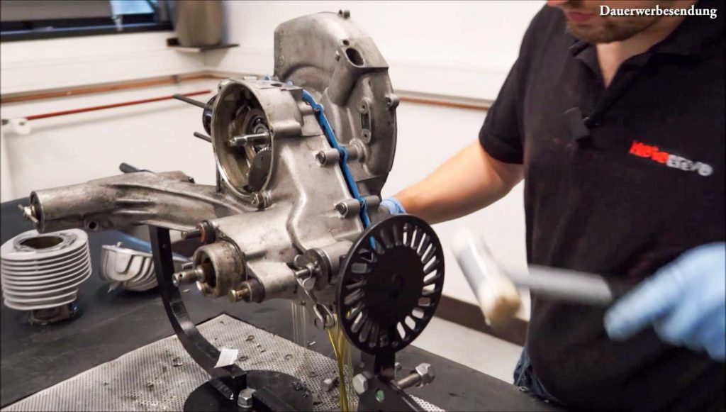 Motor öffnen Gehäuse spalten PX 200 Motor Motorschaden