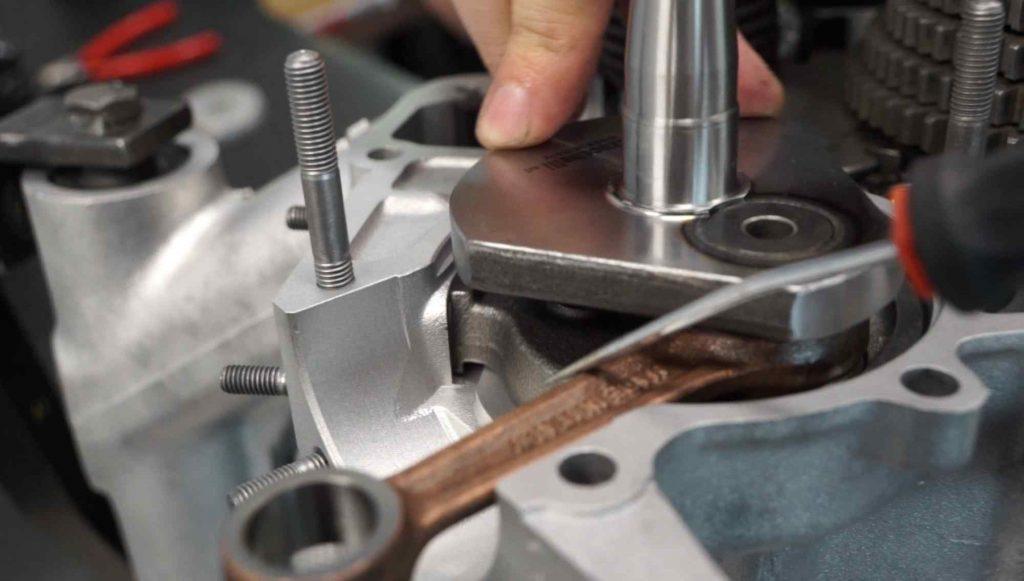 Vespa PK Motor Spalt Drehschieber Kurbelwelle prüfen