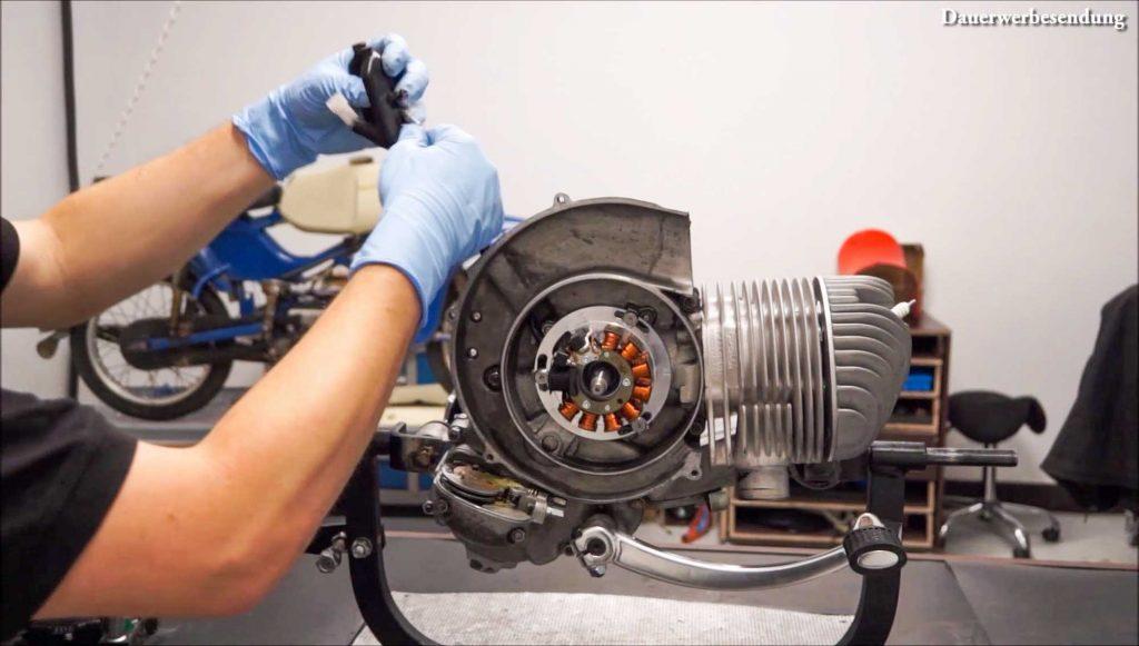 Zündung Zündgrundplatte ausbauen PX 200 Motor Motorschaden